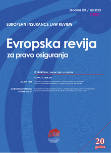 Европска ревија за право осигурања :